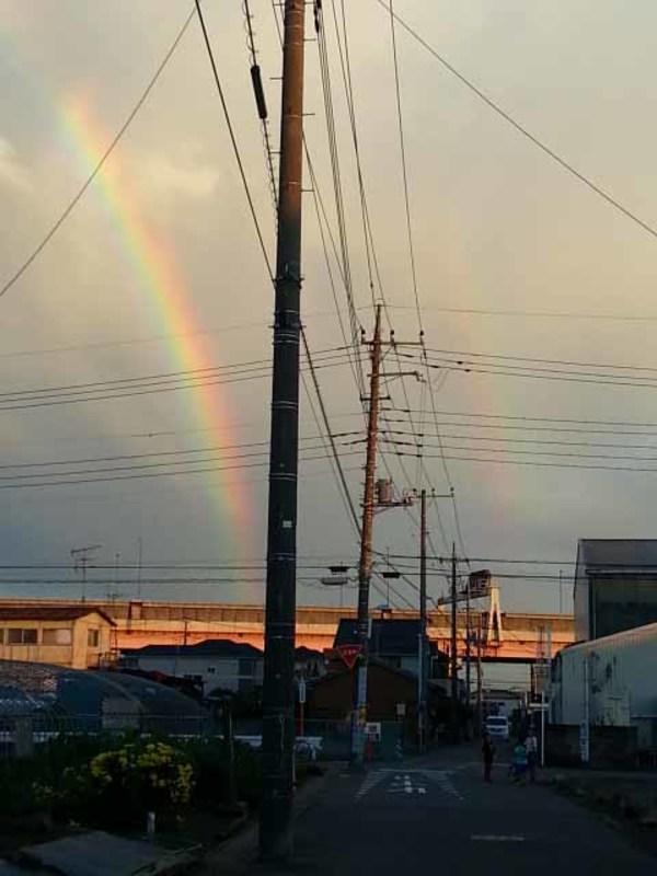 2重の虹が!